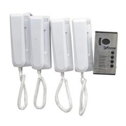 Audio Door Phone Unit with 4 handsets and Power Supply