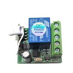 Receiver and remote RF 433 DC 12 Volts for DIY
